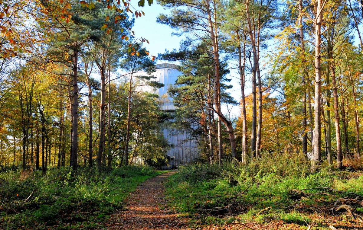 Abandoned and derelictisaac newton telescope building herstmonceux