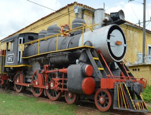 Trinidad Railway Train Station Cuba Steam Engine Locomotive
