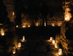 Lewes Priory Ruins Candlelight